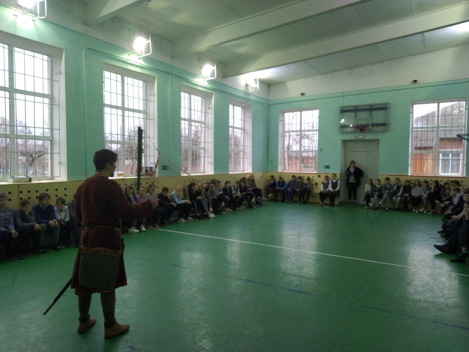Урок живой истории в Гнёздовской СОШ